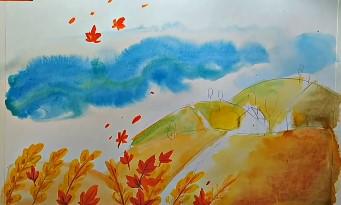 летящие листья по ветру