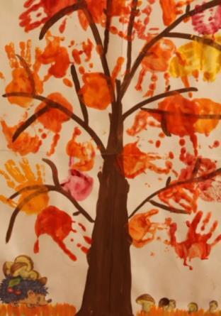 листья ладошки как дерево