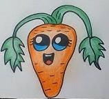 милая морковка цветными карандашами