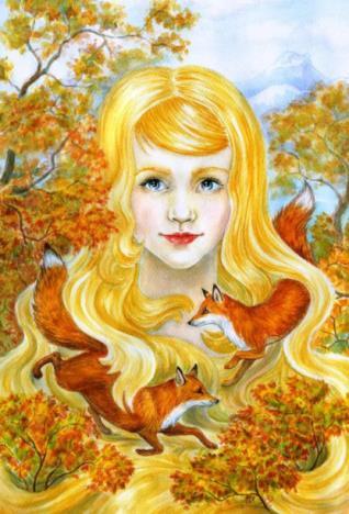 мисс осень с золотыми локонами