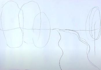 набросок простым карандашом