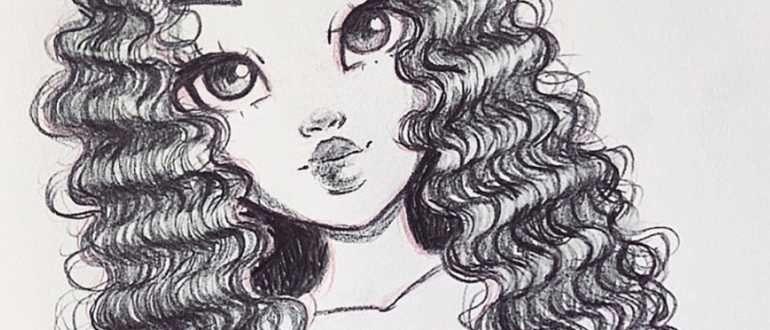 рисунок девочки простым карандашом