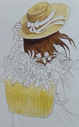 разукрашиваем шляпку цветом