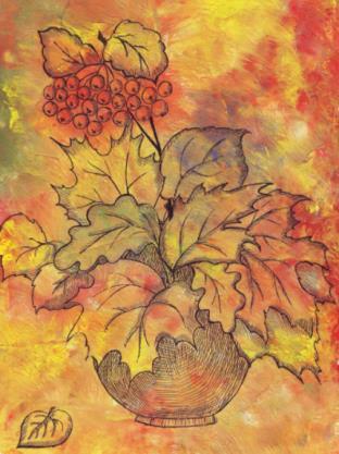 листья с гербаирем