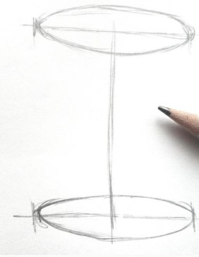 схема сосуда карандашом