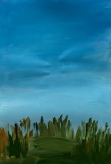 трава под небом