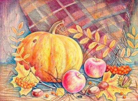 рисунок осенней тыквы