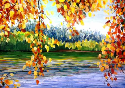 водоем осенью