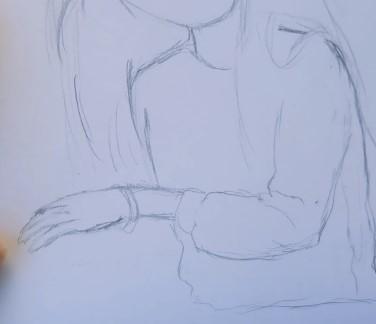 выражаем руку карандашом