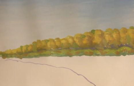 вырисовываем лес