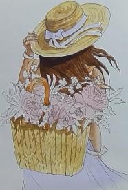 заливаем корзину цветом