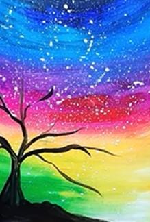 дерево рисуем черным