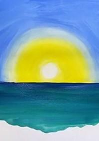 рисуем волны синим
